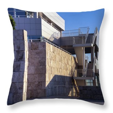 Throw Pillow featuring the photograph Lines, Shadows And Textures by Samuel M Purvis III