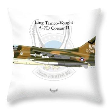 Ling-temco-vaught A-7d Corsair Throw Pillow
