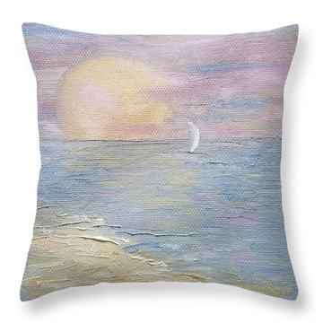 Throw Pillow featuring the painting Lingering Freedom by Judith Rhue