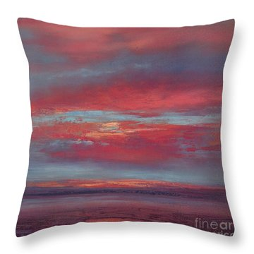 Lingering Heat Throw Pillow by Valerie Travers