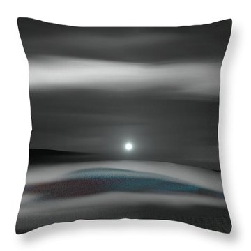 Lingering Silence Throw Pillow