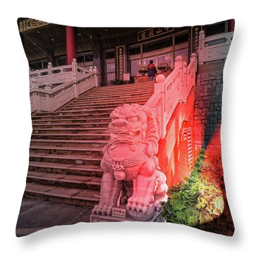 Lingyen Mountain Temple 31 Throw Pillow by Lawrence Christopher