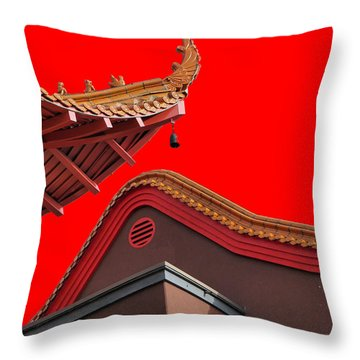 Lingyen Mountain Temple 38 Throw Pillow by Lawrence Christopher