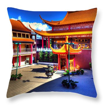 Lingyen Mountain Temple 8 Throw Pillow by Lawrence Christopher