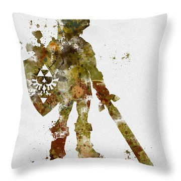 Link 2nd Edition Throw Pillow