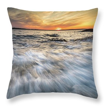 Linked In Throw Pillow