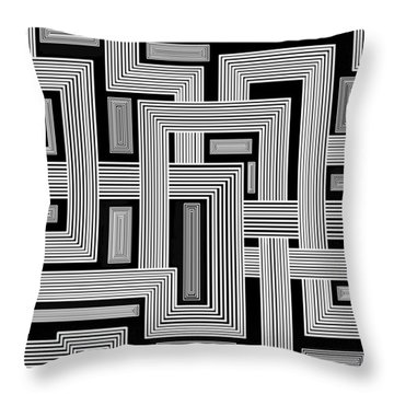 Links Too Throw Pillow by Christopher Rowlands