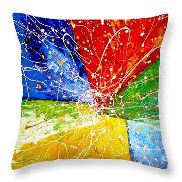 Throw Pillow featuring the painting Linkz by Piety Dsilva