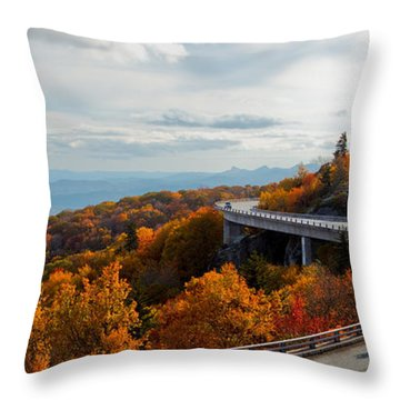 Linn Cove Viaduct Throw Pillow