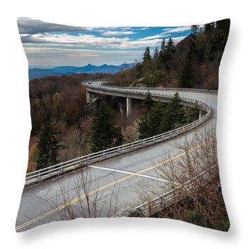 Linn Cove Viaduct Late Fall Throw Pillow