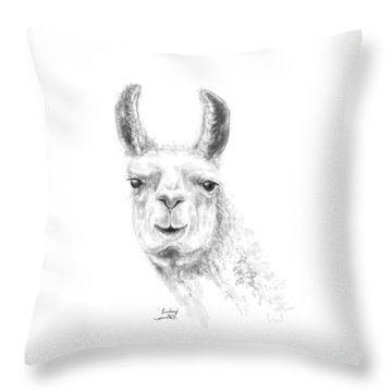 Throw Pillow featuring the drawing Linsdey by K Llamas