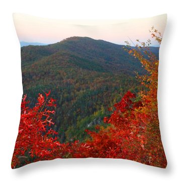 Throw Pillow featuring the photograph Linville Gorge by Kathryn Meyer