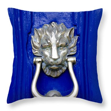 Lion Doorknocker Throw Pillow