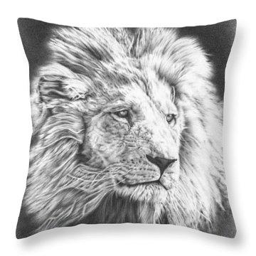 Fluffy Lion Throw Pillow