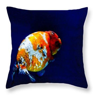 Lion Head Goldfish 2 Throw Pillow