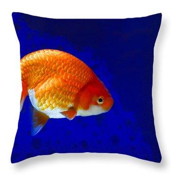 Lion Head Goldfish 6 Throw Pillow