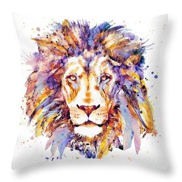 Lion Head Throw Pillow