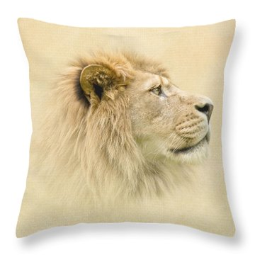 Lion II Throw Pillow by Roy  McPeak