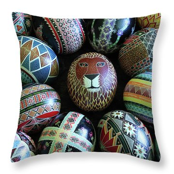 Lion In The Center Throw Pillow