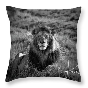 Throw Pillow featuring the photograph Lion King by Karen Lewis