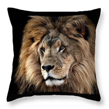 Lion King Of The Jungle 2 Throw Pillow