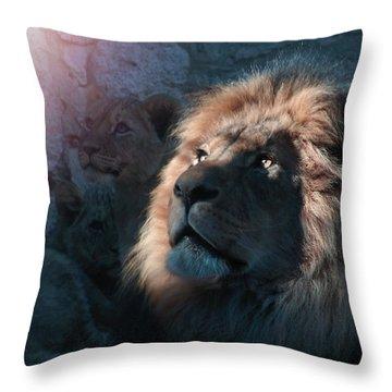 Lion Light Throw Pillow