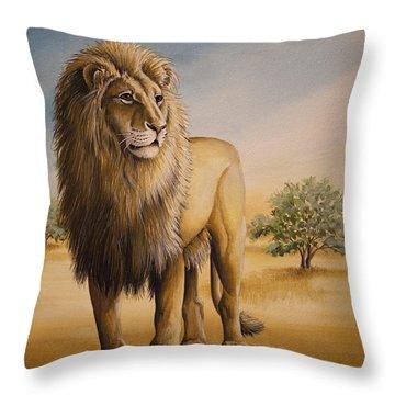 Lion Of Africa Throw Pillow