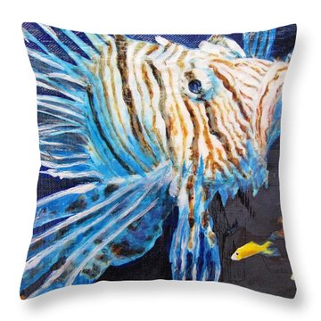 Lion Of The Sea 2 Throw Pillow