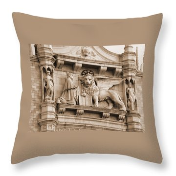 Lion Of Venice With The Doge Throw Pillow