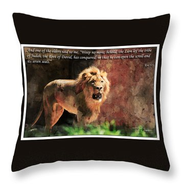 Lion Revelation 5 Throw Pillow