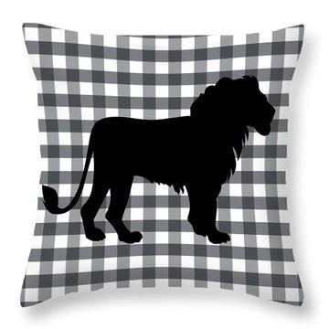 Lion Silhouette Throw Pillow