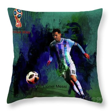 Lionel Messi 2018 World Cup  Throw Pillow