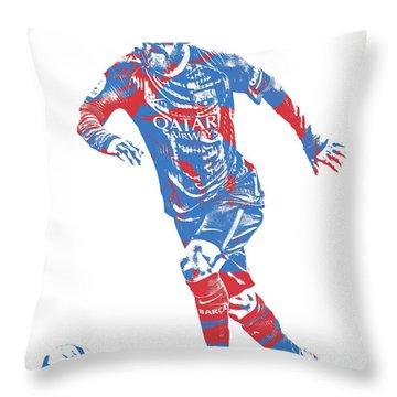 Lionel Messi F C Barcelona Argentina Pixel Art 1 Throw Pillow
