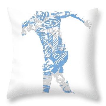 Lionel Messi F C Barcelona Argentina Pixel Art 4 Throw Pillow