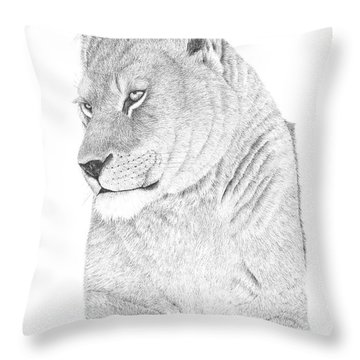 Lioness Throw Pillow by Patricia Hiltz
