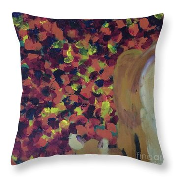 Throw Pillow featuring the painting Lioness' Pride 2 Of 6 by Donald J Ryker III