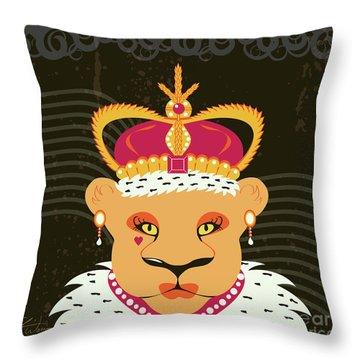 Lioness Queen Throw Pillow