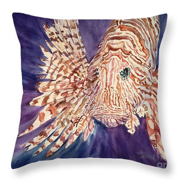 Lionfish Throw Pillow by Tanya L. Haynes - Printscapes