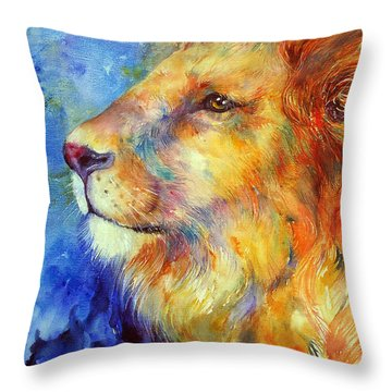 Lionheart Throw Pillow