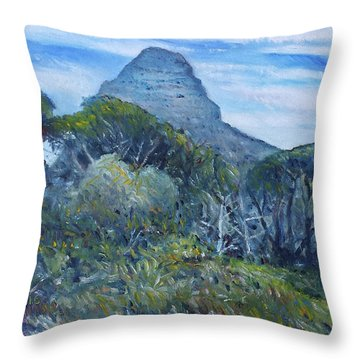 Lions Head Cape Town South Africa 2016 Throw Pillow by Enver Larney