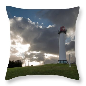 Lion's Lighthouse For Sight - 2 Throw Pillow by Ed Clark