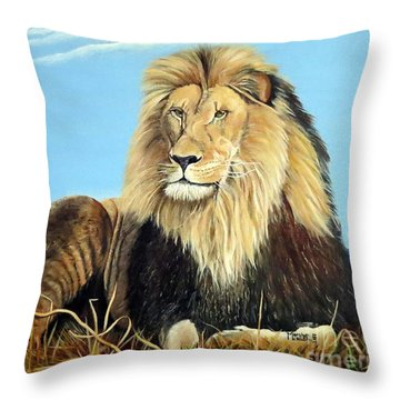 Lions Pride Throw Pillow