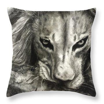 Lion's World Throw Pillow