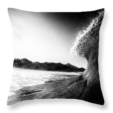 Throw Pillow featuring the photograph lip by Nik West