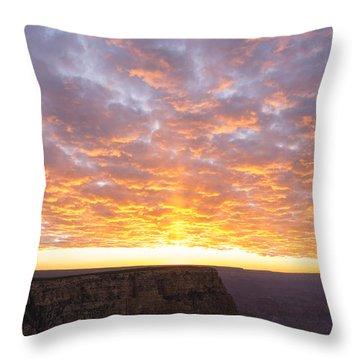 Lipon Point Sunset 3 - Grand Canyon National Park - Arizona Throw Pillow by Brian Harig