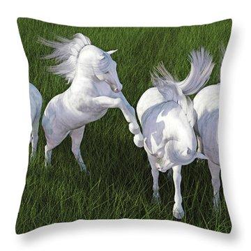 Lippizzaner Fields Throw Pillow