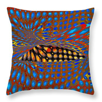 Lippy Again Throw Pillow