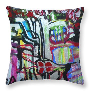 Lips Made Of Steel Throw Pillow