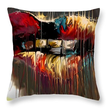 Lips Say It All Throw Pillow