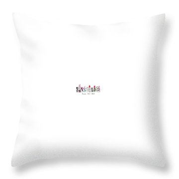 Lipstick Galore Throw Pillow by Elizabeth Taylor